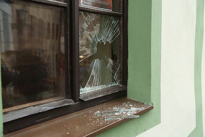 A2B Glass are able to board up broken windows while they are being repaired in Morden.